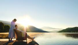 KOLLERs Hotel: Relaxen am Hotelsteg