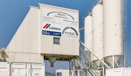 Koralmtunnel: Mobile CEMEX-Beton-Mischanlage (c) CEMEX/Abdruck honorarfrei