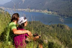 Blick auf den idyllischen Weissensee (c) weissensee.com