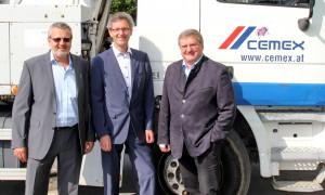 (v.l.n.r.) Gerhard  Piff,  Markus Stumvoll und Peter Neuhofer (c) CEMEX Austria AG